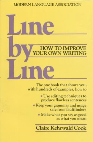 Line by Line How to Edit Your Own Writing  1985 edition cover