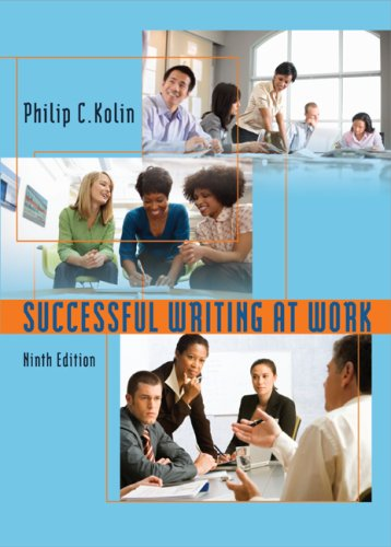 Successful Writing at Work  9th 2010 edition cover