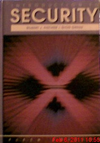 Introduction to Security  5th 1992 9780750691918 Front Cover