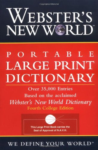 Portable Large Print Dictionary  2nd 2002 edition cover
