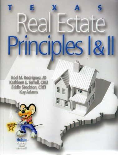TEXAS REAL ESTATE PRINCIPLES I 1st edition cover
