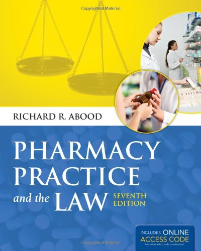 Pharmacy Practice and the Law:   2012 edition cover