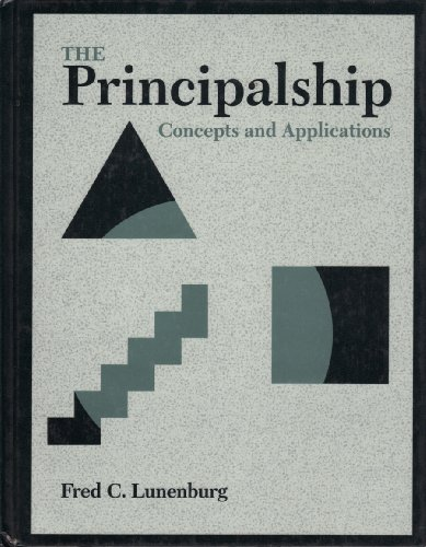 Principalship Concepts and Applications 1st 1995 edition cover