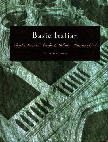 Basic Italian  7th 1993 9780030749919 Front Cover