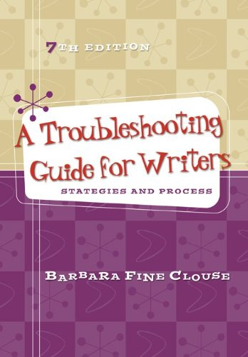 Troubleshooting Guide for Writers Strategies and Process 7th 2013 edition cover