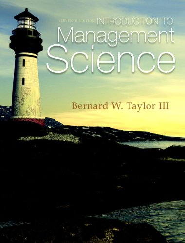 Introduction to Management Science  11th 2013 (Revised) edition cover