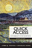 Quick Access Reference for Writers Plus Pearson EText with MyWritingLab -- Access Card Package  7th 2013 edition cover