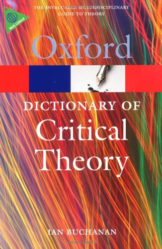 Dictionary of Critical Theory   2010 edition cover