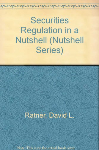 Securities Regulation in a Nutshell 5th 1996 9780314065919 Front Cover