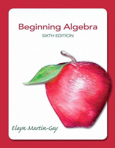 Beginning Algebra  6th 2013 (Revised) edition cover
