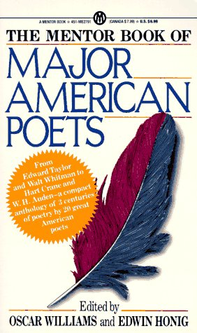 Mentor Book of Major American Poets  N/A edition cover