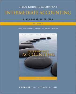 Study Guide to accompany Intermediate Accounting  9th 2010 9780470677919 Front Cover