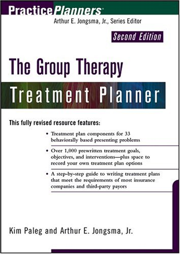 Group Therapy Treatment Planner  2nd 2004 (Revised) edition cover