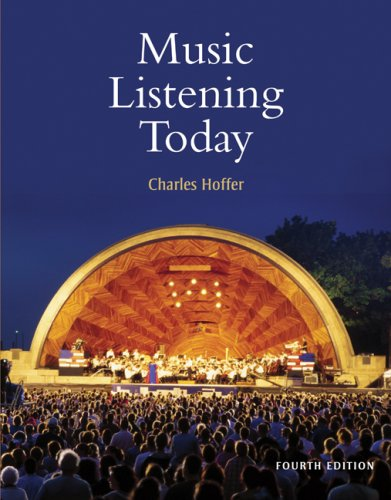 Music Listening Today (with 2 CD Set and Resource Center Printed Access Card)  4th 2010 edition cover