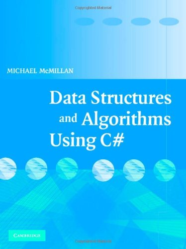 Data Structures and Algorithms Using C#   2007 edition cover