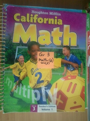 Mathmatics California, Level 3: Teacher's Edition  2009 9780618826919 Front Cover