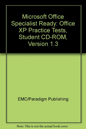 Microsoft Office XP Core Certification : Microsoft Office Specialist Certification; Benchmark Microsoft Office Specialist Ready! CD 1st 2002 9780763816919 Front Cover