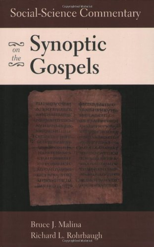 Social-Science Commentary on the Synoptic Gospels  2nd 2003 (Revised) edition cover
