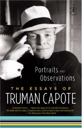 Portraits and Observations The Essays of Truman Capote N/A edition cover