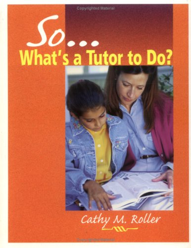 So What's a Tutor to Do?  N/A edition cover