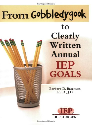 From Gobeldygook to Clearly Written Goals   2006 edition cover