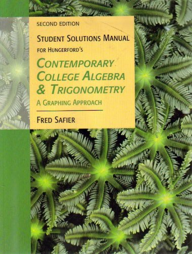 Contemporary College Algebra and Trigonometry A Graphing Approach 2nd 2005 9780534467920 Front Cover