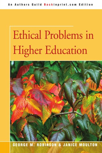 Ethical Problems in Higher Education  N/A edition cover