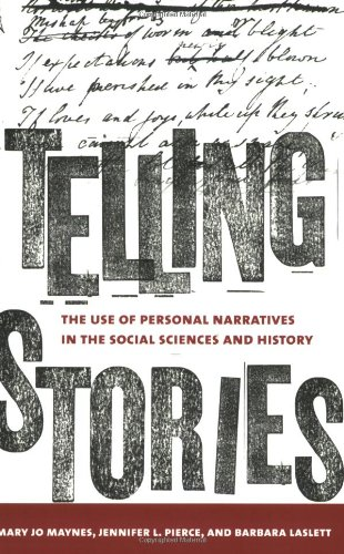 Telling Stories The Use of Personal Narratives in the Social Sciences and History  2008 9780801473920 Front Cover