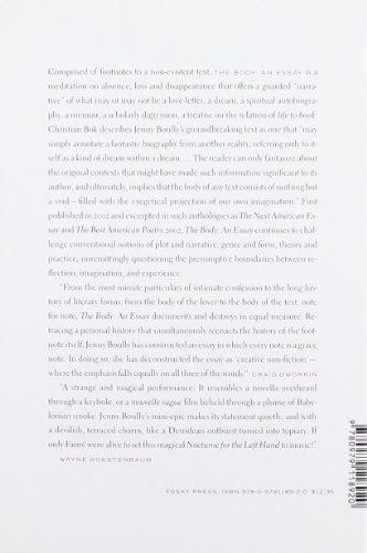 Body: an Essay  2007 edition cover