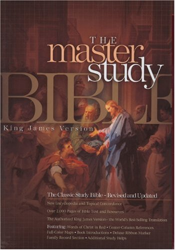 KJV Master Study Bible, Black Bonded Leather  N/A 9781558198920 Front Cover