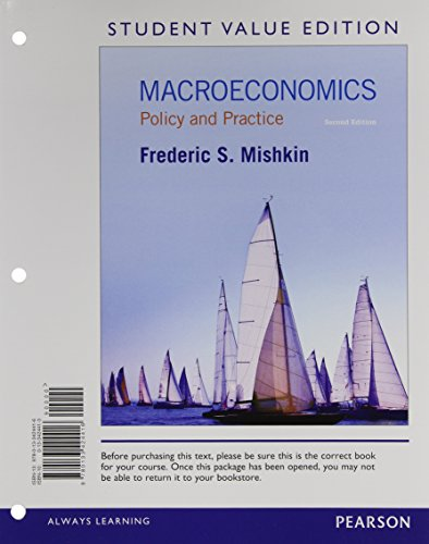 Macroeconomics Policy and Practice, Student Value Edition Plus NEW MyEconLab with Pearson EText -- Access Card Package 2nd 2015 edition cover