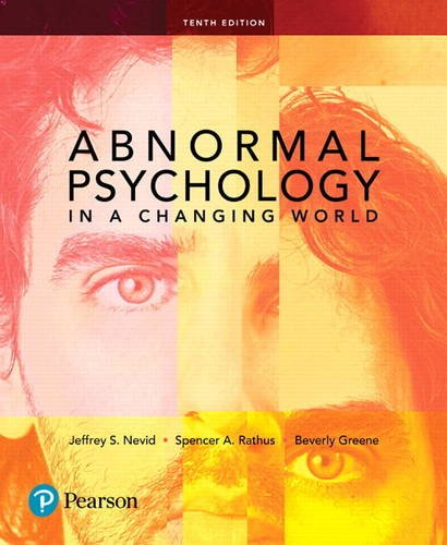 Abnormal Psychology in a Changing World  10th 2018 9780134484921 Front Cover