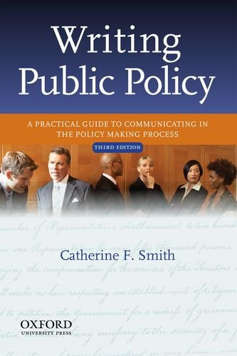 Writing Public Policy A Practical Guide to Communicating in the Policy-Making Process 3rd 2012 edition cover