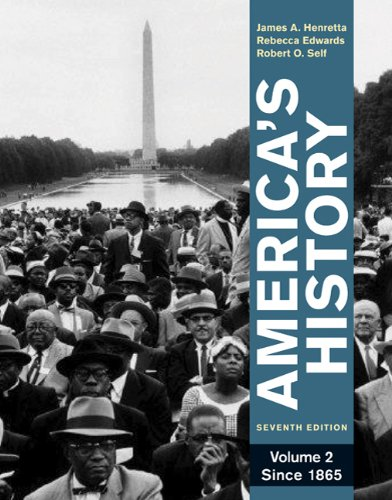 America's History Since 1865 7th 2011 edition cover