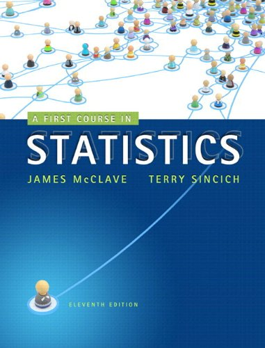 First Course in Statistics  11th 2013 edition cover