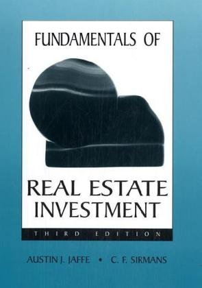 Fundamentals of Real Estate Investments  3rd 1995 (Revised) edition cover