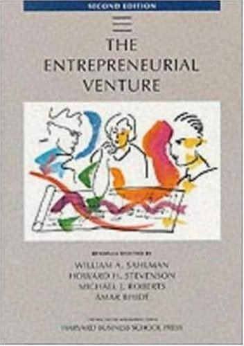 Entrepreneurial Venture  2nd 1999 (Revised) edition cover