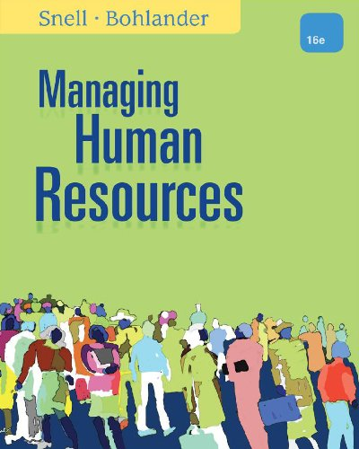 Managing Human Resources  16th 2013 edition cover