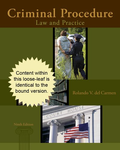 Cengage Advantage Books: Criminal Procedure Law and Practice 9th 2014 edition cover