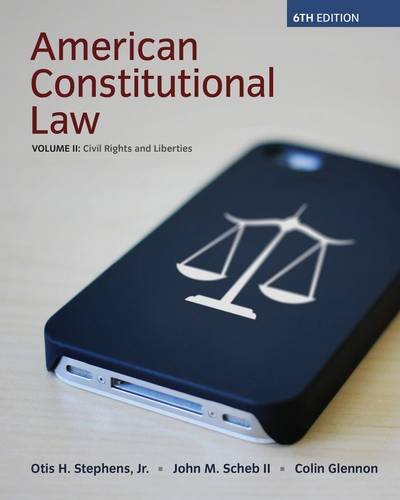 American Constitutional Law: Civil Rights and Liberties  2014 edition cover