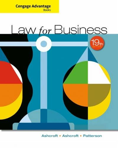 Law for Business:   2016 9781305654921 Front Cover
