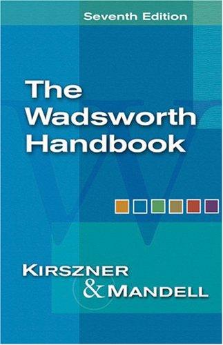 Wadsworth Handbook  7th 2005 edition cover