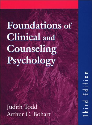 Foundations of Clinical and Counseling Psychology 3rd 1999 edition cover