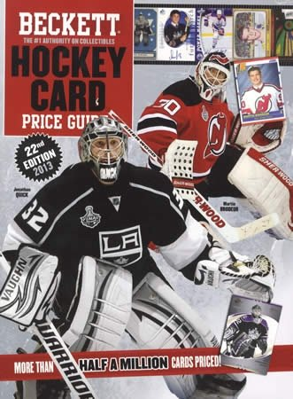 Beckett Hockey Card Price Guide  22nd 2012 9781936681921 Front Cover