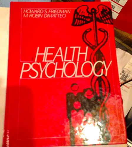 Health Psychology  1st 1989 edition cover