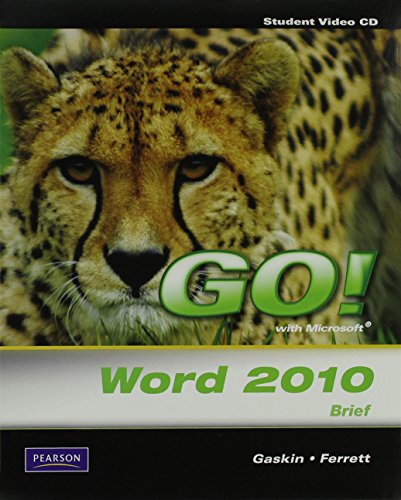 GO! W/MS.WORD 2010,BRIEF-CD (S N/A 9780135097922 Front Cover