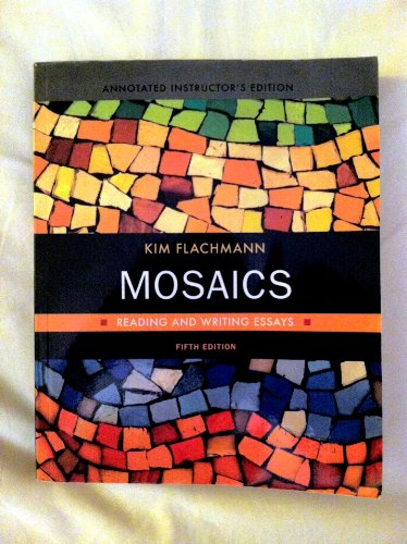 MOSAICS:READING+WRITING ESSAYS N/A 9780205738922 Front Cover