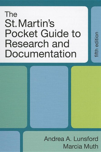 St. Martin's Pocket Guide to Research and Documentation  5th 2011 edition cover