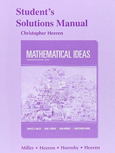 Mathematical Ideas:   2015 edition cover