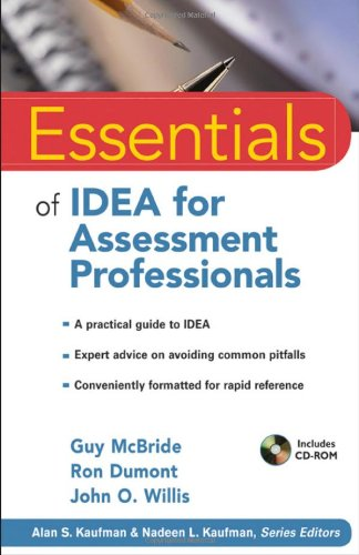 Essentials of Idea for Assessment Professionals   2011 edition cover